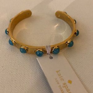 Kate Spade gold and turquoise bracelet